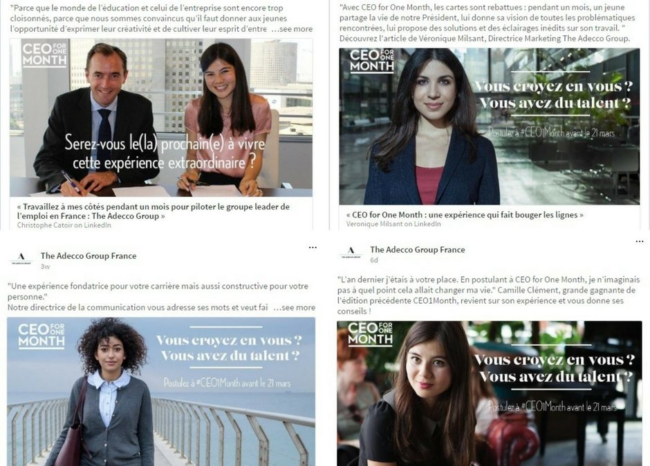 [Rédaction web] Campagne LinkedIn pour Adecco Group France
