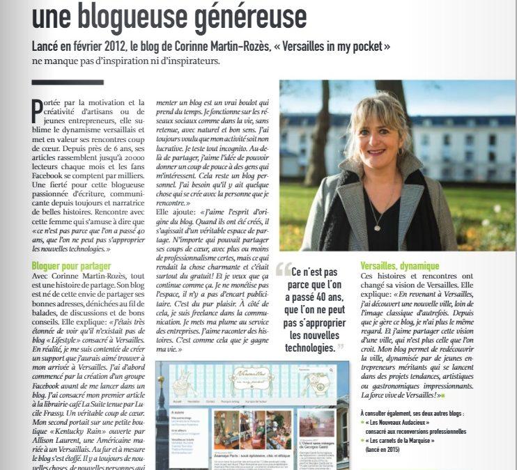[Blogging] A la Une du «Versailles mag»
