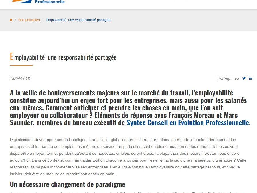 [Rédaction web] Employabilité: une responsabilité partagée
