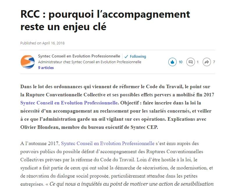 [Rédaction web] RCC : pourquoi l'accompagnement reste un enjeu clé