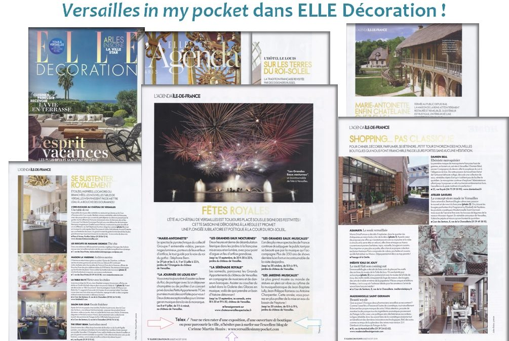 [Blogging] Versailles in my pocket dans ELLE Déco !