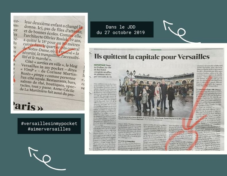 [Revue de presse] Versailles in my pocket dans le JDD !