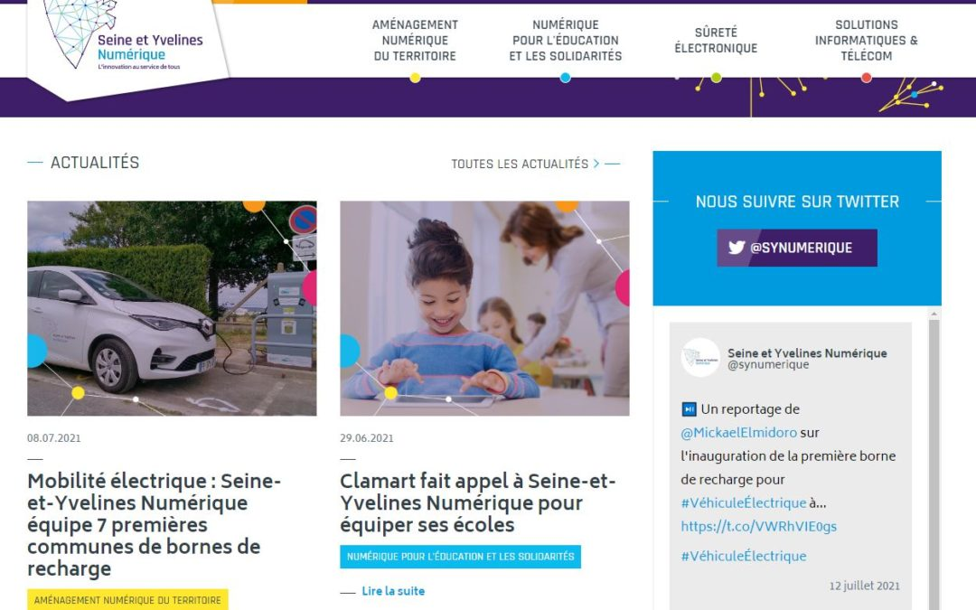 [Contenus] Newsletter Seine-et-Yvelines Numérique